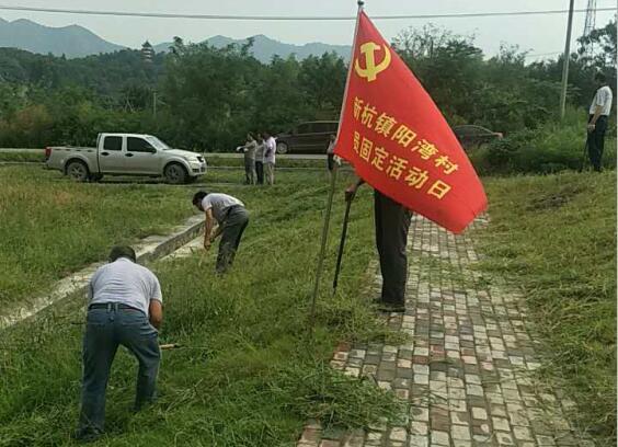"""新杭镇阳湾村党员志愿活动践行 """"两学一做"""""""